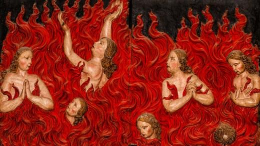 Almiñas nas laparadas do inferno. / Pedro G. Losada Sociedade Antropolóxica Galega SAGA.