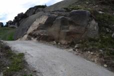 Estragos causados pola apertura da pista no Castelo da Frouxeira