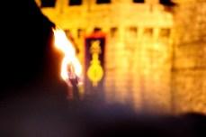 Os fachos ó pé das murallas / foto HdG