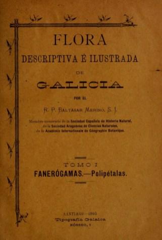 Portada de Flora Descriptiva e Ilustrada / foto https://www.biodiversitylibrary.org/page/1 Elisardojm CCBy Wikimedia