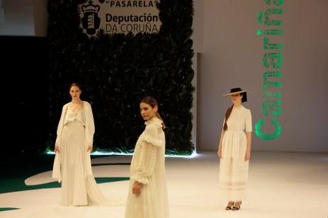 Deseños de Sara Lage na Mostra de 2o19 / foto Concello de Camariñas