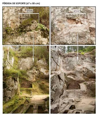 Detalles da desfeita en San Pedro de Rocas / foto Jorge López Quiroga