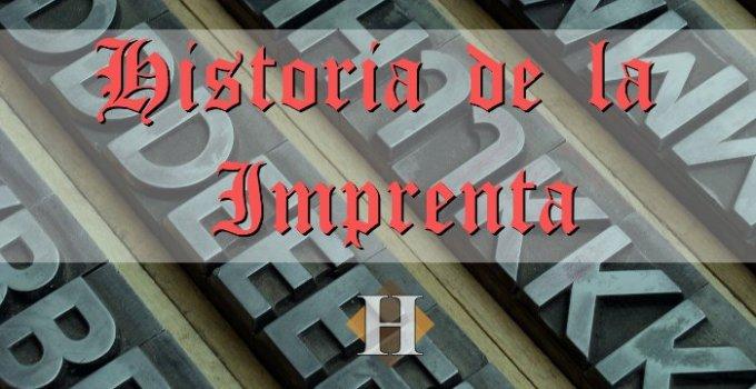 Historia de la imprenta portada