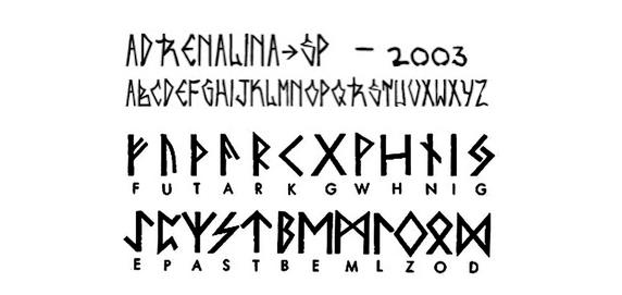 pixação e alfabeto rúnico