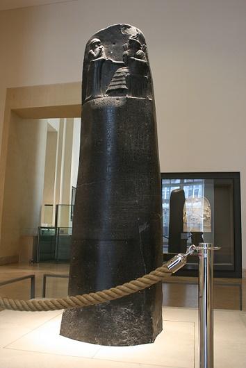 Estela del Código de Hammurabi, expuesta en el Museo del Louvre