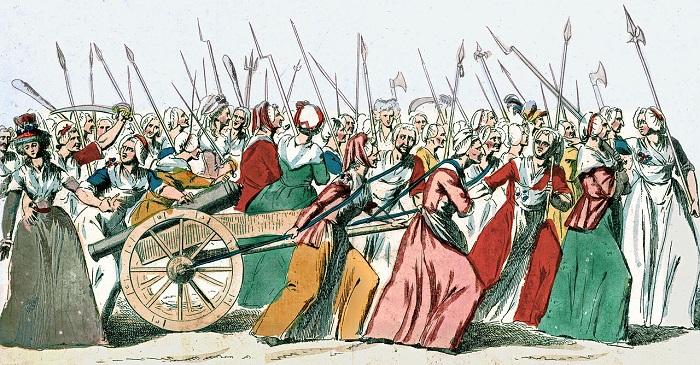 Ilustración sobre la Marcha de las mujeres sobre Versalles