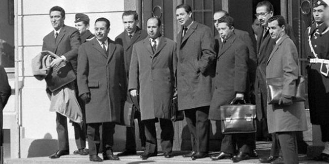 Fotografía de los negociadores de los Acuerdos de Evian de 1962