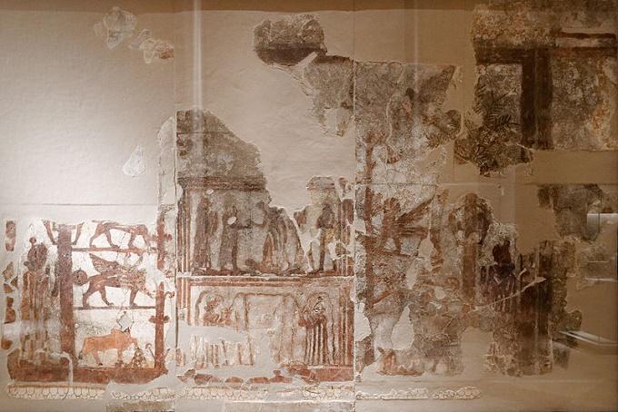 Mural del palacio de Mari atribuido a Zimri Lim