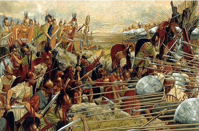 Ilustración que recrea la batalla de Pidna, en la última de las Guerras Macedónicas