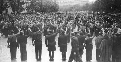 Miembros de Falange Española en Zaragoza en 1936