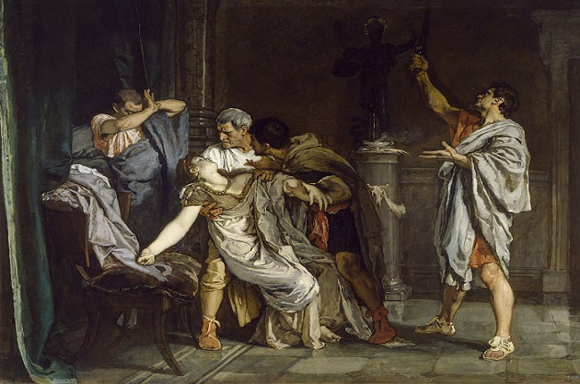 La muerte de Lucrecia, obra de Eduardo Rosales, recrea la causa de inicio de la República Romana Temprana