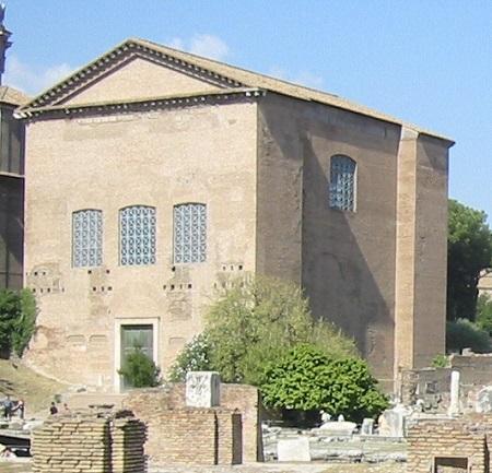 La Curia Julia, uno de los edificios en los que se reunía el Senado romano