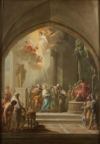 Santa Leocadia ante el pretor, obra de Mariano Maella de finales del siglo XVIII sobre este cargo del cursus honorum