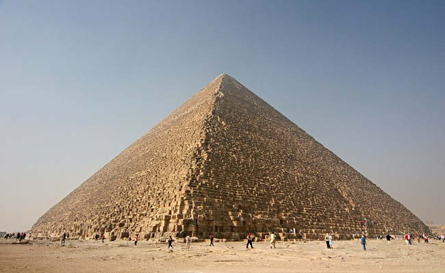 Gran Pirámide de Guiza, hecha en la IV Dinastía egipcia