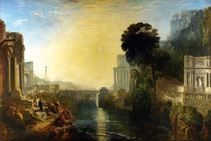 """""""Dido construye Cartago"""", obra del pintor inglés William Turner realizada en 1815"""