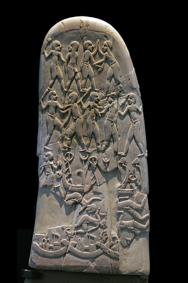 Mango del cuchillo de Gebel El Arak, una de las mayores obras de arte figurativo del predinástico egipcio