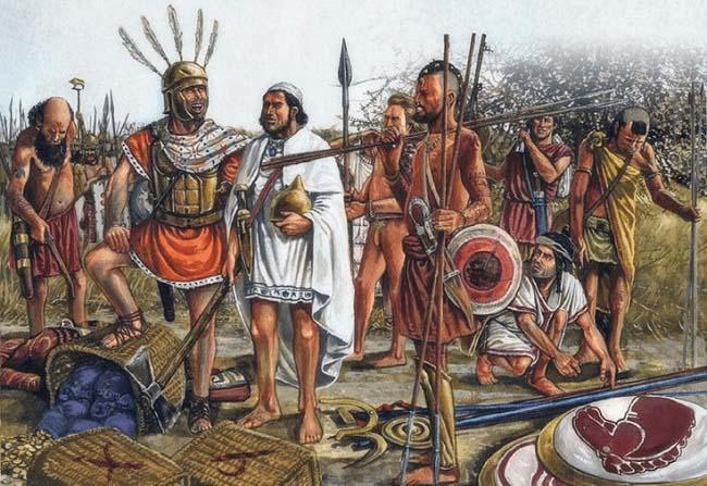 Ilustración que recrea a algunas de las fuerzas de Aníbal, hermano de Magón Barca, en sus últimos años de campaña en Italia