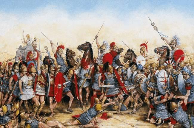 Ilustración que recrea la batalla de Zama, en el 202 a.C., que desató las consecuencias de la Segunda Guerra Púnica