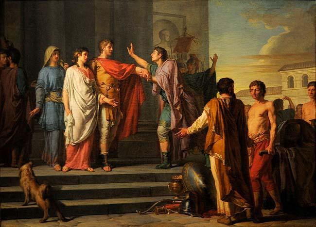 La clemencia de Escipión, de Nicolas-Guy Brenet, obra posterior a la invasión romana de África
