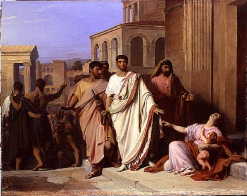 Cayo Graco según una pintura de mediados del siglo XIX realizada por Pierre-Nicolas Brisset