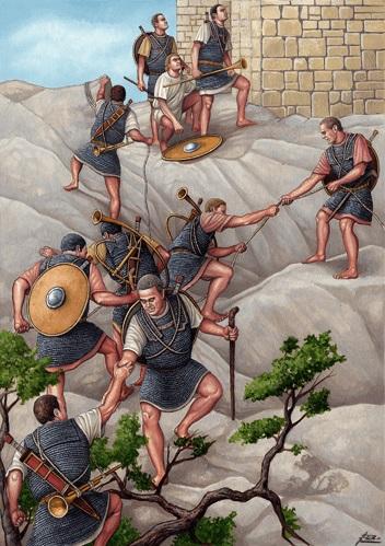 Legionarios romanos al final de la guerra de Yugurta