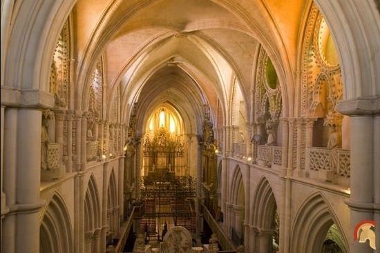 Interior de la catedral de Cuenca, una de las primeras catedrales de arte gótico en España