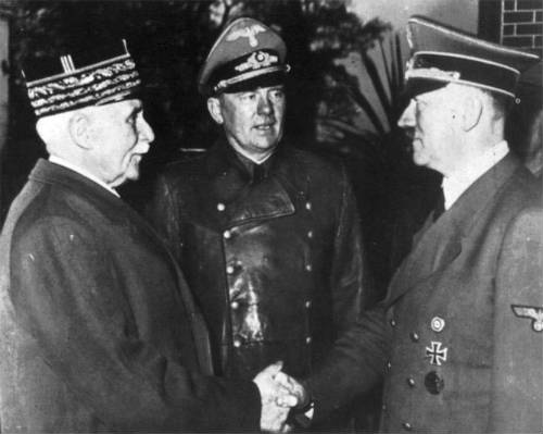 Resultado de imagen para Fotos de la rendición de Francia a Alemania