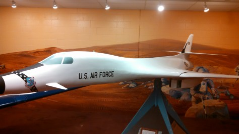 Scale model of a B-1B bomber