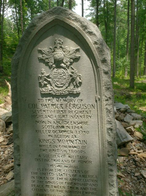 The gravestone of Patrick Ferguson