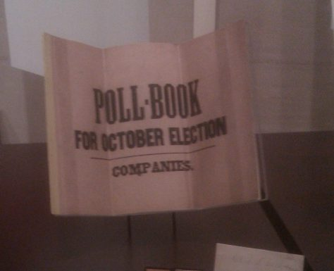 Polls Book For 1864 Election