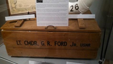 Lt. CMDR G. R. Ford Jr. USNR