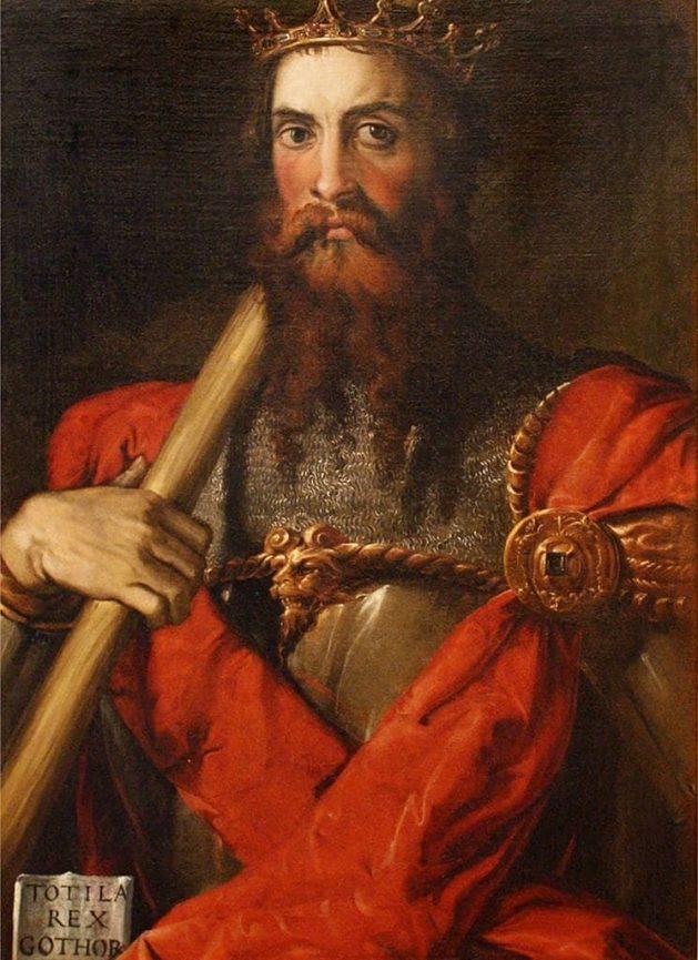 Francesco Salviati - Portrait von Totila