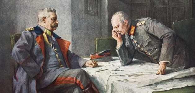 Paul von Hindenburg und Erich von Ludendorff