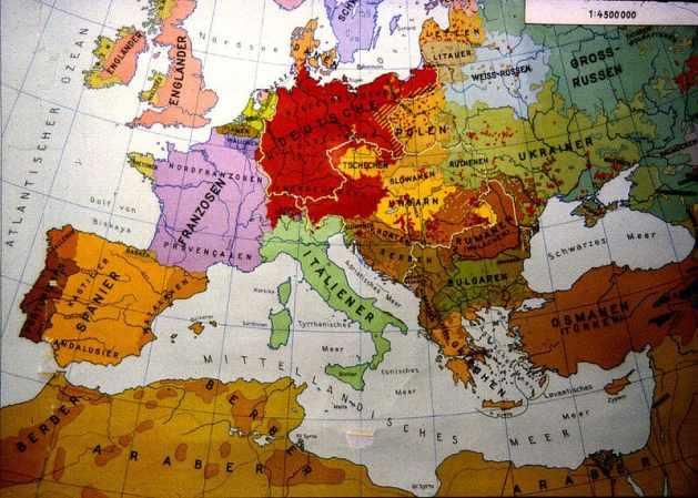 Ethnische Karte Europa 1914