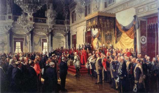 Die Eröffnung des deutschen Reichstages im Weißen Saal des Berliner Schlosses am 25. Juni 1888 (Ölgemälde von Anton von Werner, 1893