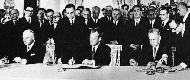 Unterzeichnung des Moskauer Vertrages 1970