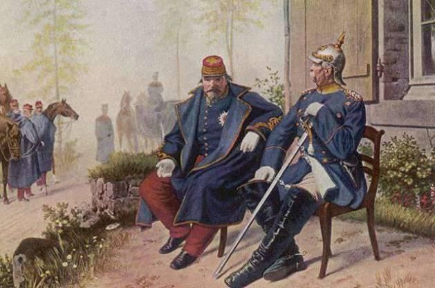 Bismarck und Napoleon nach der Schlacht von Sedan
