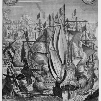 La sanglante défaite des flottes d'Espagne et d'Hollande Arrivée le deuxième juin 1676 a la Rade de Palerme Par Monsieur le Marechal Duc de VIVONNE, Lieutenant général des Armées du Roy en SICILE A Paris, Chez GERARD IOLLAIN, rue Saint Jacques, à la Ville de Cologne, 1677