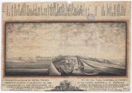 """Segunda Versão do """"Prospecto"""" : Tavira vista do rio a Sul desde a Bateria do Registo"""