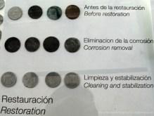 Fases para restaurar las monedas.