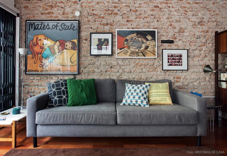 decoracao-tijolinho-parede-quadros