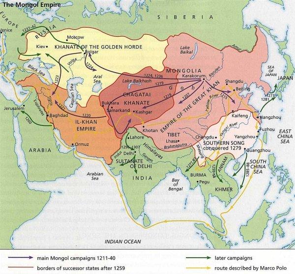 División Imperio mongol
