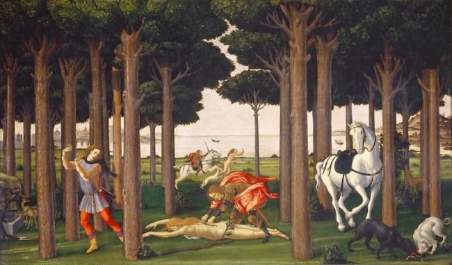 Tabla 2 Nastagio degli Onesti - Botticelli