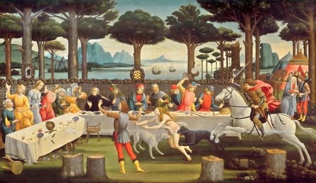 Tabla 3 Nastagio degli Onesti - Botticelli
