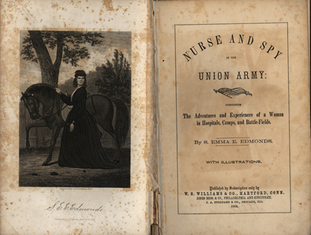 """""""Nurse and spy in the Union army"""" (1865)"""