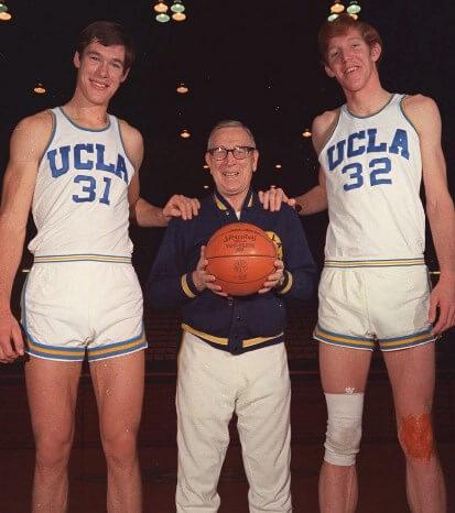 Swen Nater, John Wooden y Bill Walton