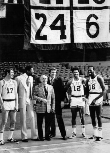 Bill Russell retirada Boston Garden