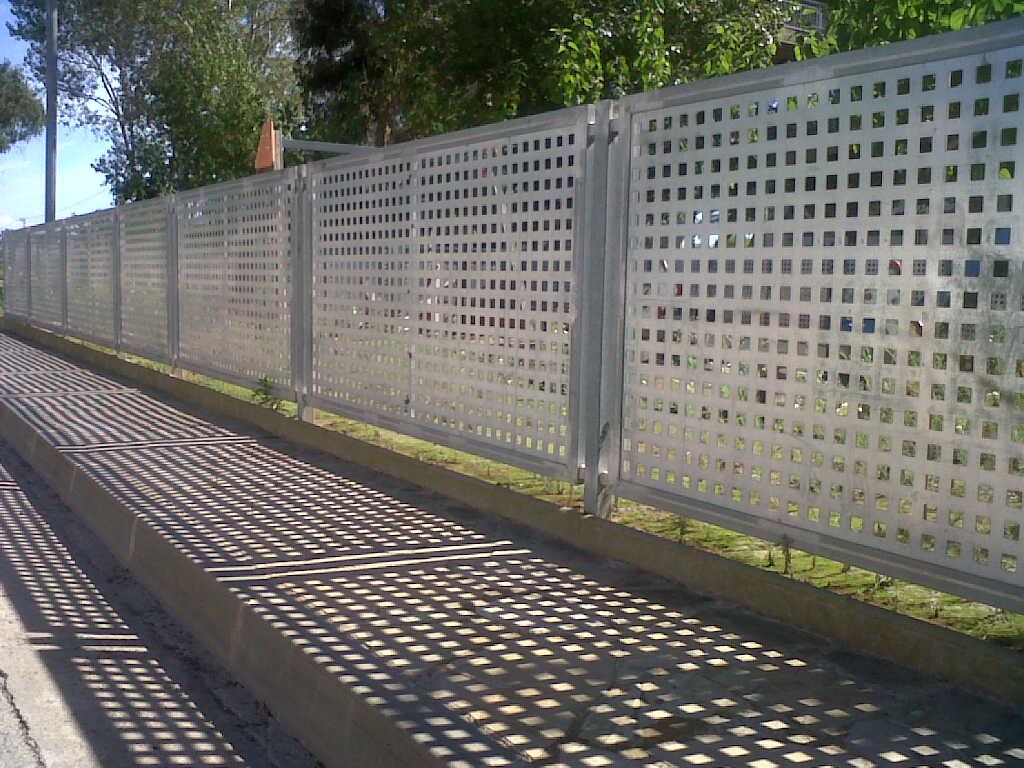 Modelos de valla verja residencial de hierro vivienda chalet - Precio ladrillo perforado ...