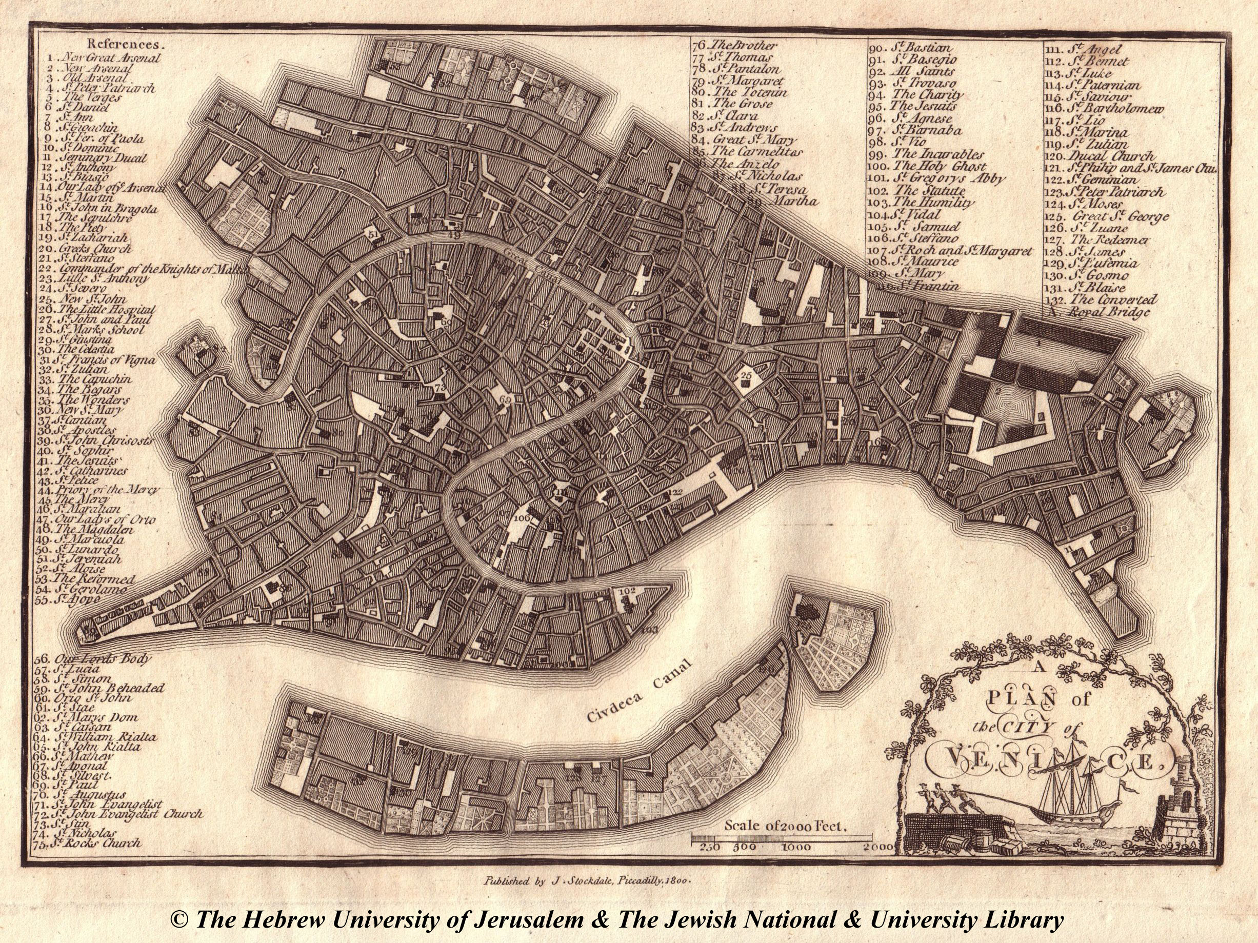 Map of Venice  1800  J  Stockdale Low Resolution   High Resolution
