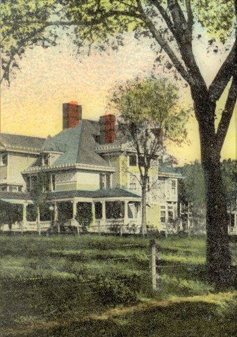 Frank Buffum Home from Postcard